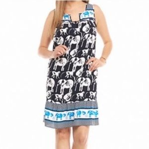 Crown & ivy elephant monkey swing dress